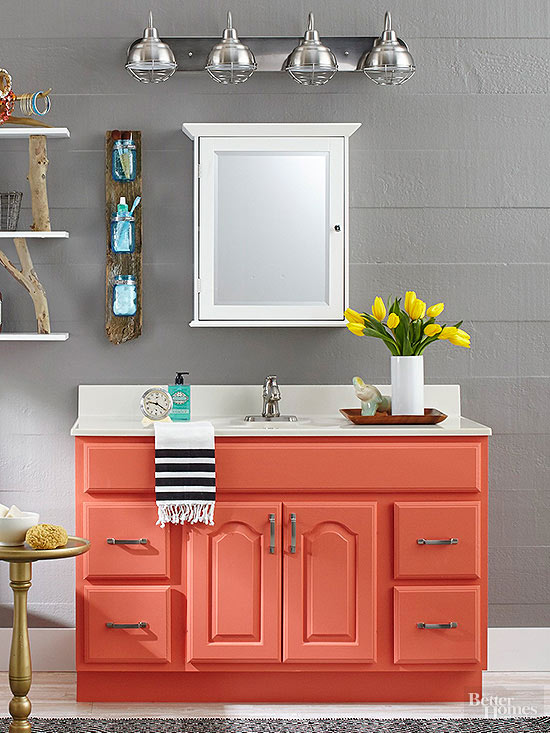Remodelaholic 25 Inspiring And Colorful Bathroom Vanities