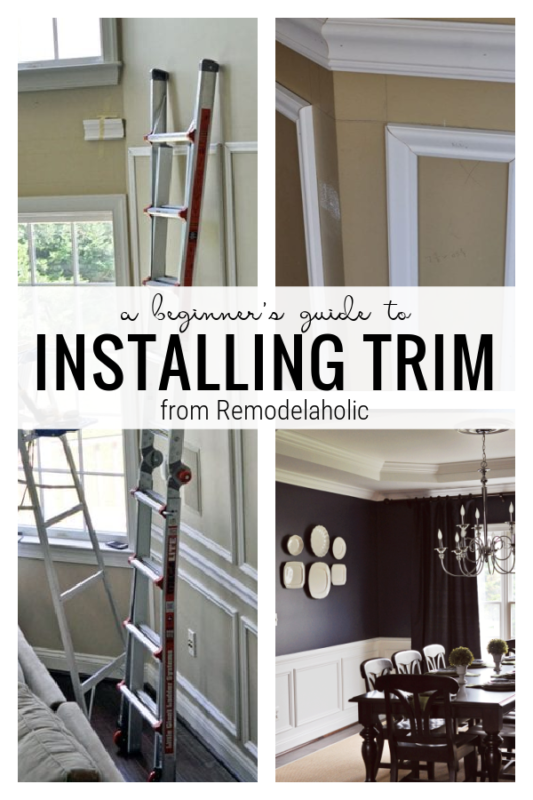 A Beginner's Guide To Installing Trim From Remodelaholic
