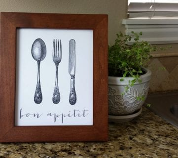Bon Appetit Kitchen Printable