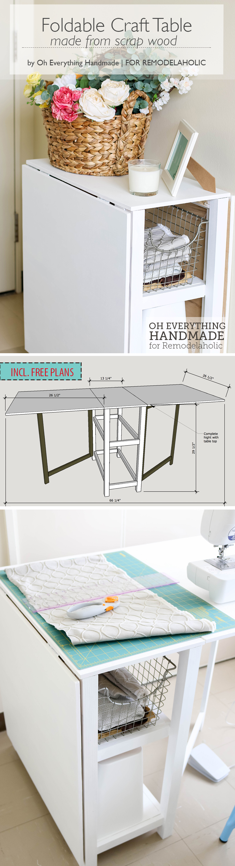 Merveilleux Make Your Small Craft Area Work With This Space Conscious DIY Foldable  Craft Table,