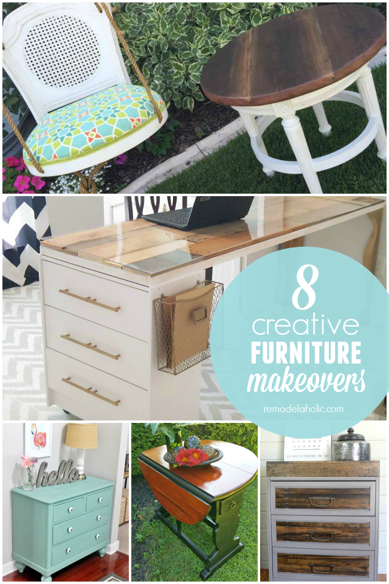 Creative Furniture Makeovers Friday Features Link Up