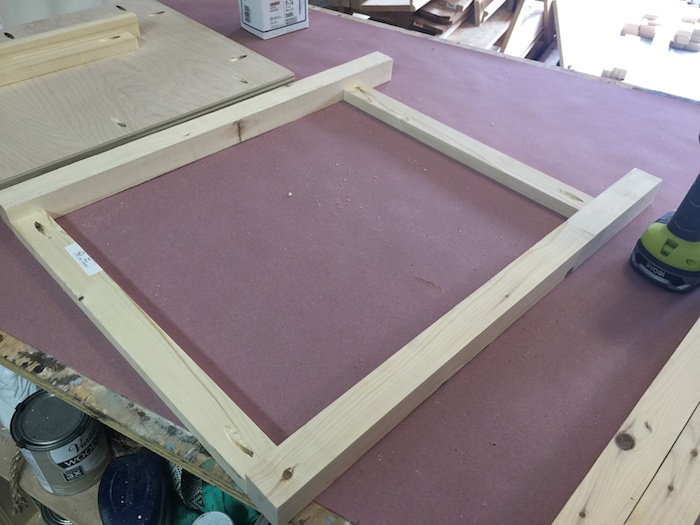 DIY Printmakers Media Console Plans - Step 2
