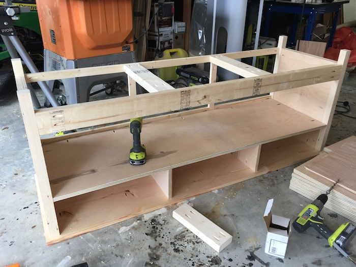 DIY Printmakers Media Console Plans - Step 8