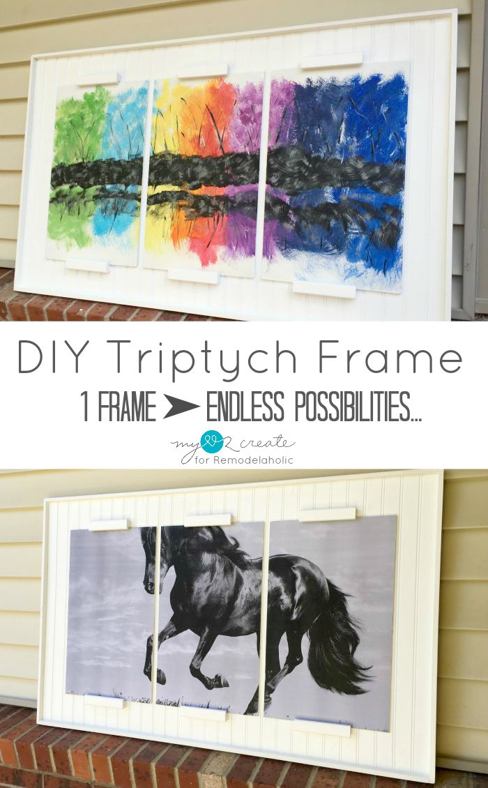 Remodelaholic | How to Build a DIY Triptych Frame for Art Panels