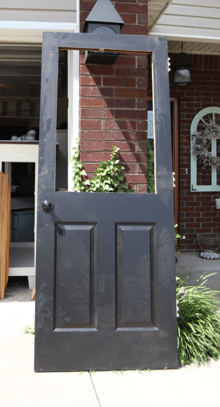DIY tutorial - how to add a glass window to a hollow core door (1)