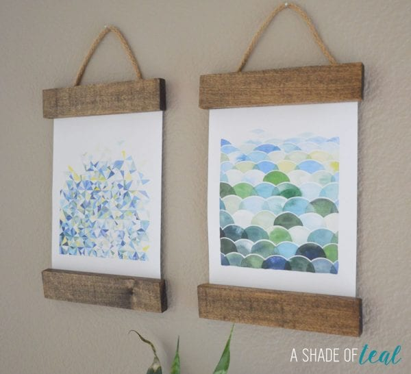 DIY wall art - easy way to hang art A Shade of Teal