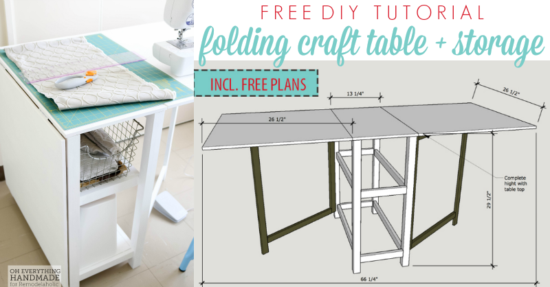 Remodelaholic Diy Folding Craft Table Or Foldable Desk