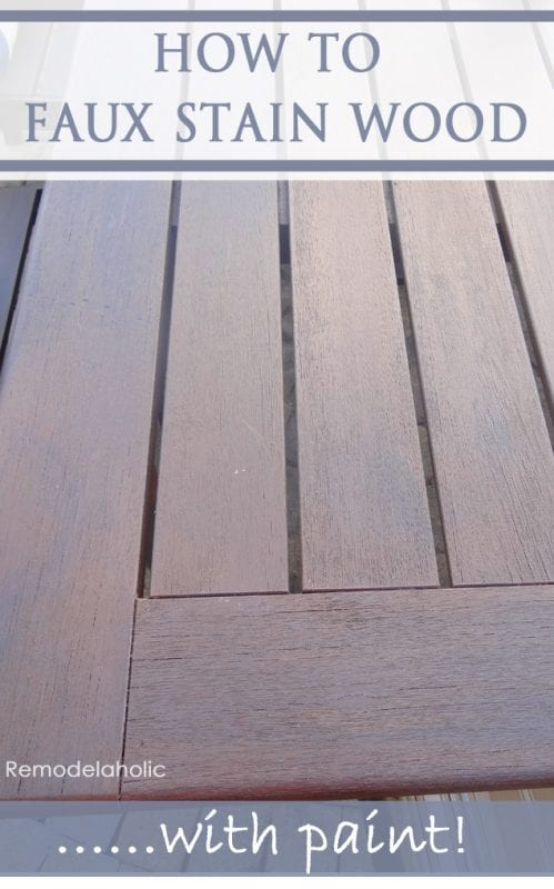 How to Faux Stain Wood with Paint