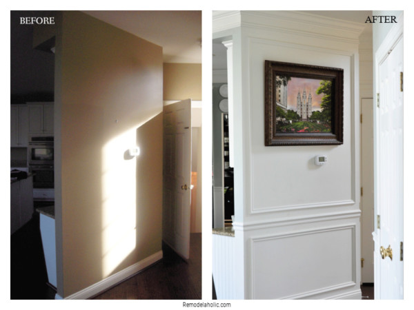 Installing Crown Molding And Shadow Box Trim For Beginners, From Remodelaholic