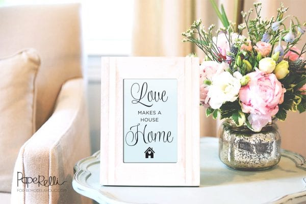 Love Makes a House a Home | Printable by Paperelli @Remodelaholic