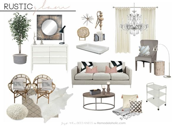 Rustic Glam Living Room remodelaholic | decorating with style ~ rustic glam