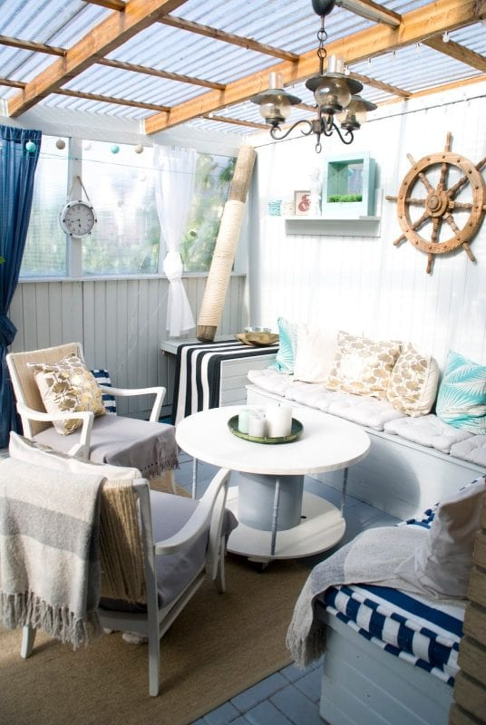 covered patio makeover
