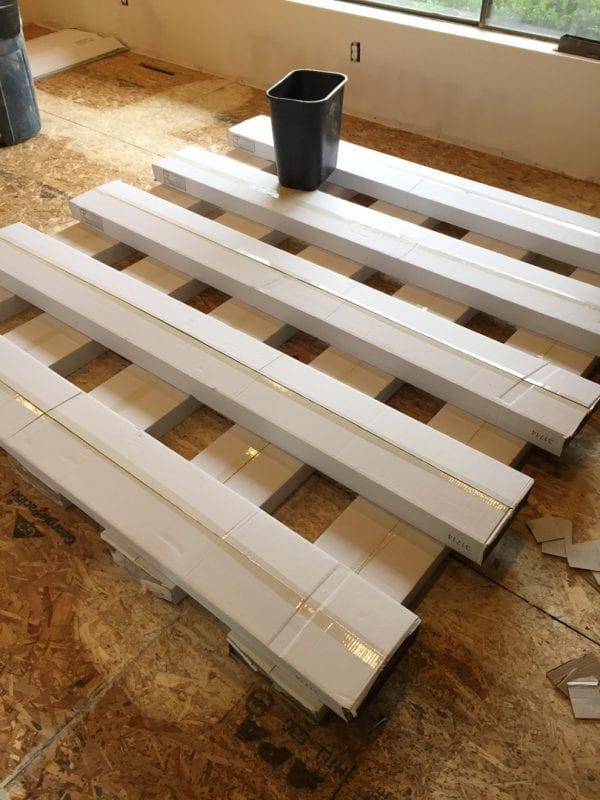 Remodelaholic living room flooring install process (9)