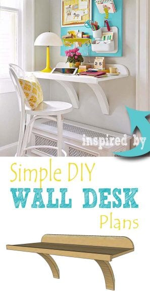 Simple DIY wall desk pin