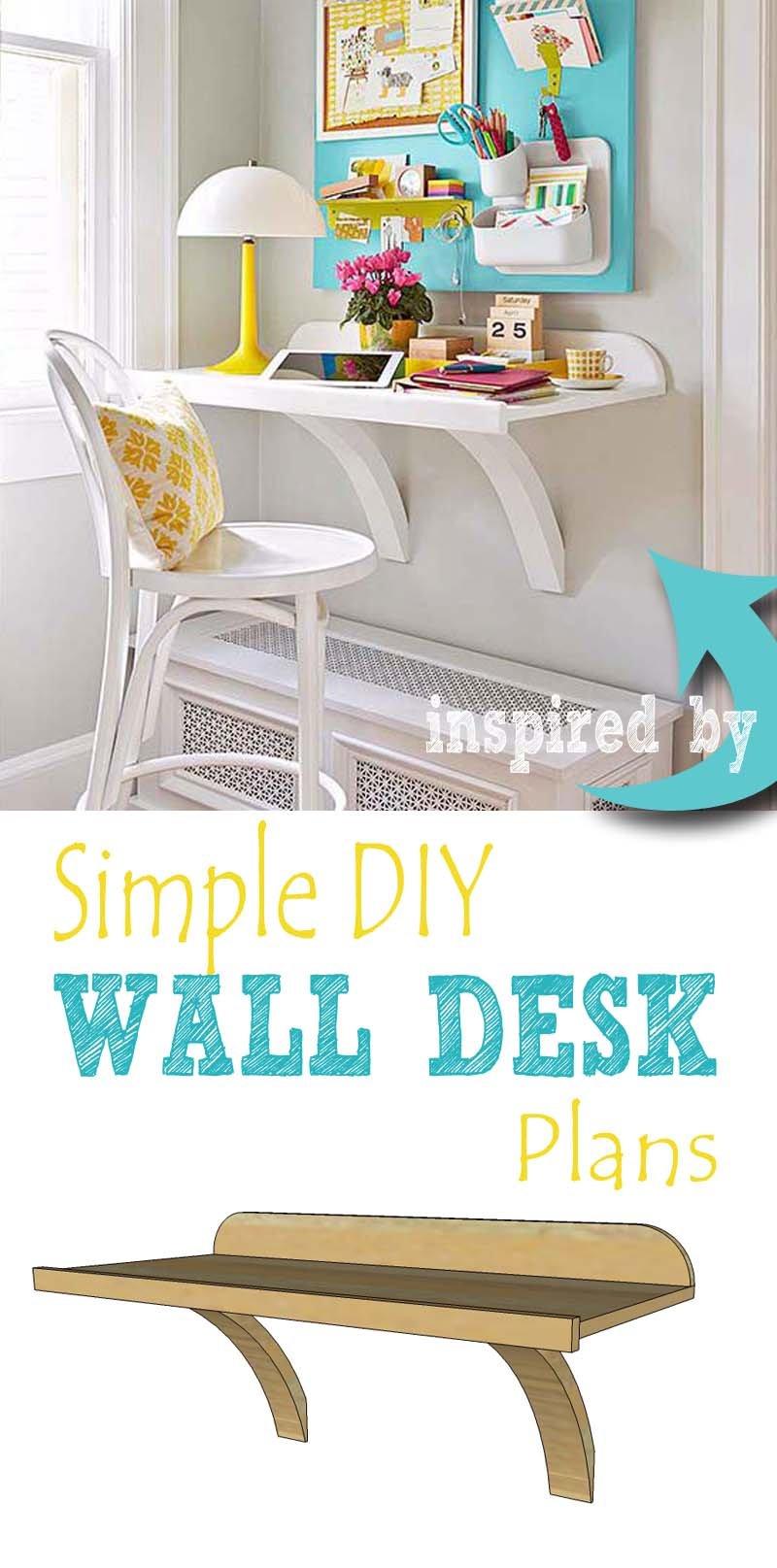Remodelaholic Simple Diy Wall Desk