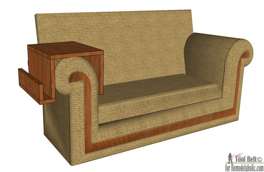 Diy Sofa Arm Table Remodelaholic