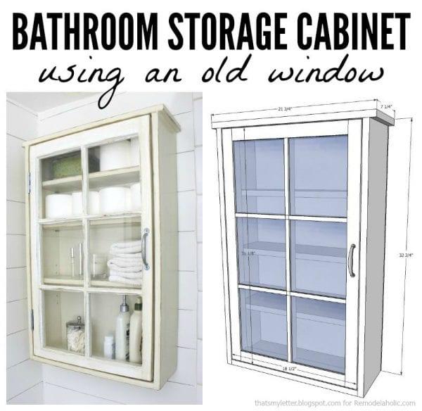 bathroom storage cabinet collage
