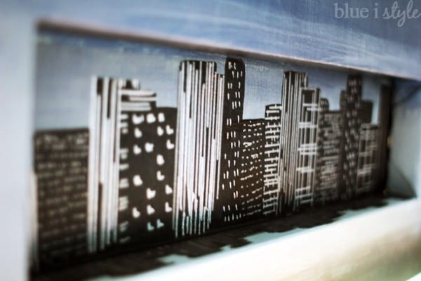 blueistyle how to paint a skyline