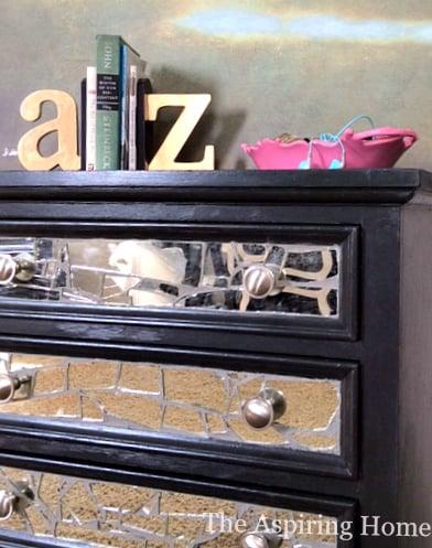 broken mirror nightstand makeover The Aspiring Home