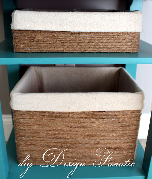 cardboard twine and dropcloth storage boxes