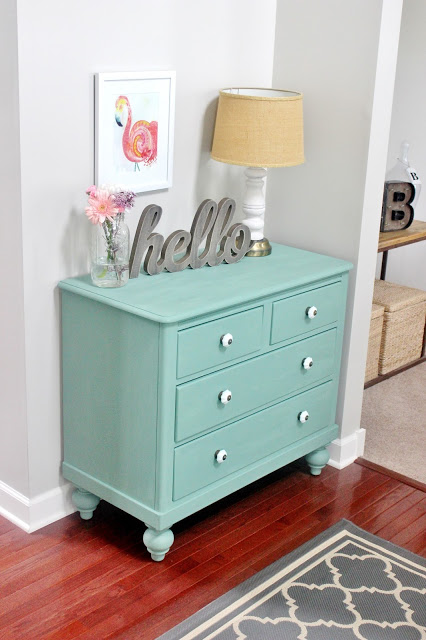 chalk paint dresser makeover Delightfully Noted