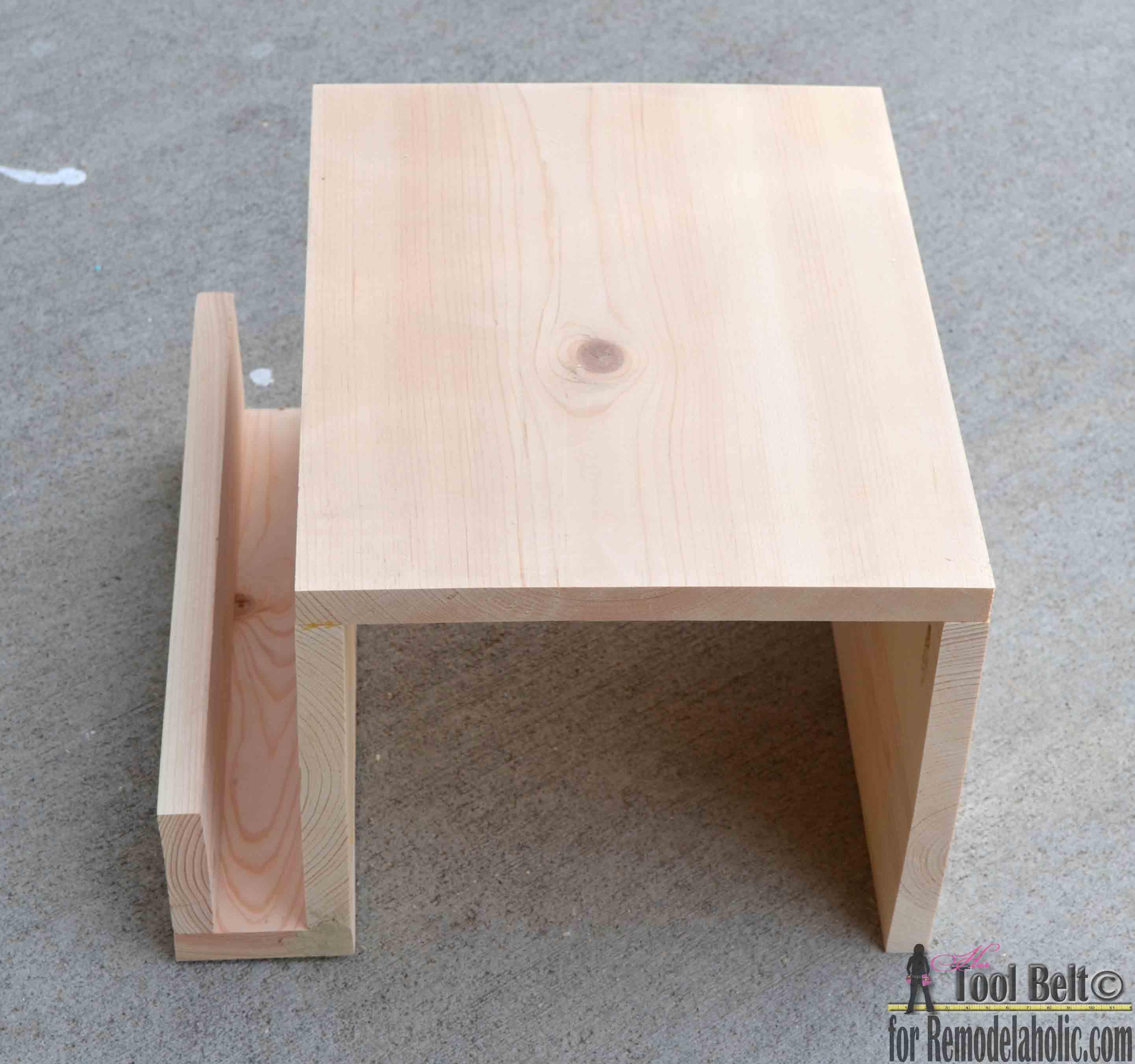 Remodelaholic Diy Sofa Arm Table