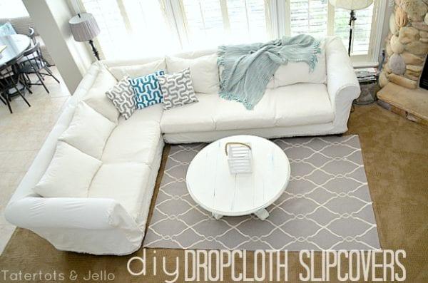 diy dropcloth slipcovers