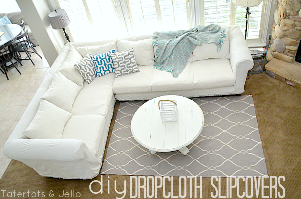 Remodelaholic 25 Ways To Use A Dropcloth In Your Home Decor