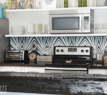 DIY Kitchen Backsplash Stencil