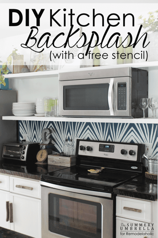 Update your kitchen in a weekend with a do-it-yourself backsplash stencil! This tutorial shows you how to create your own DIY stencil using a provided template, or use your own design to make your backsplash custom.