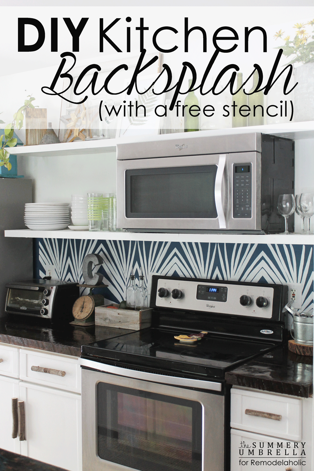 Remodelaholic Diy Kitchen Backsplash Stencil