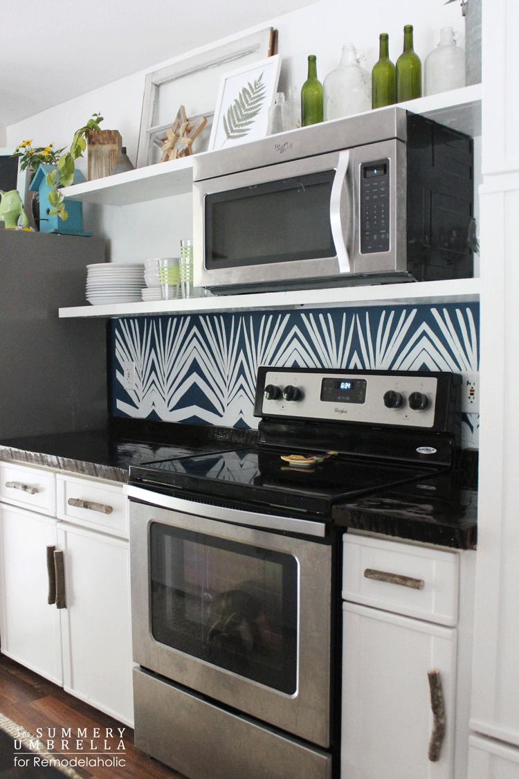 diy-kitchen-backsplash-stencil Pallet Ideas For Kitchen Backsplash on kitchen pallet table, kitchen pallet floor, kitchen pallet art, kitchen pallet shelves, kitchen pallet shelf, kitchen pallet wall,
