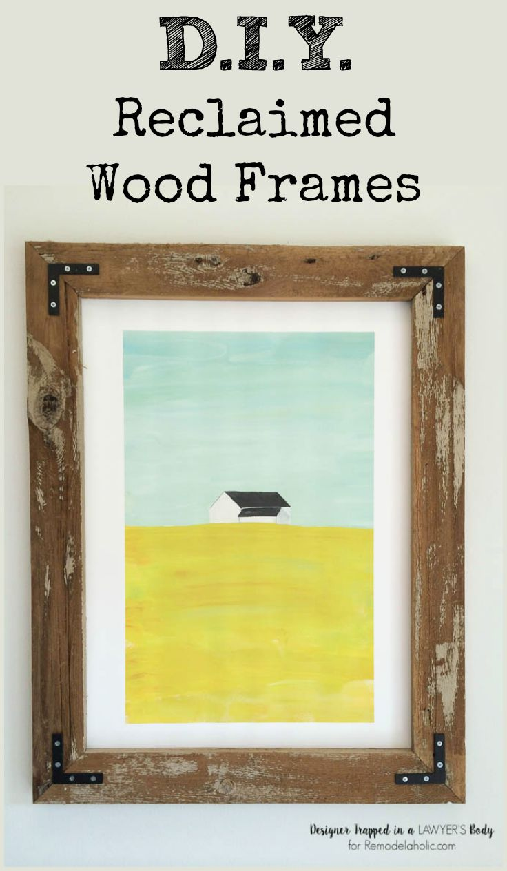 Remodelaholic diy rustic wood art frames build your own large rustic wood art frames for a fraction of what youd jeuxipadfo Gallery