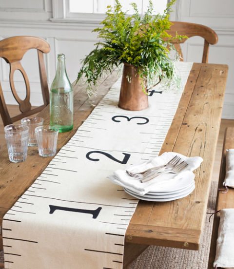 dropcloth ruler table runner