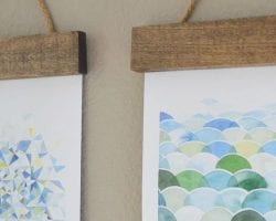 feature DIY wall art - easy way to hang art A Shade of Teal