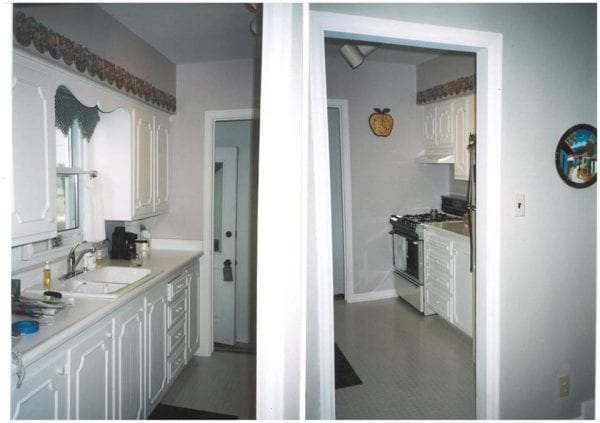 amazing before and after, updating a galley kitchen to open