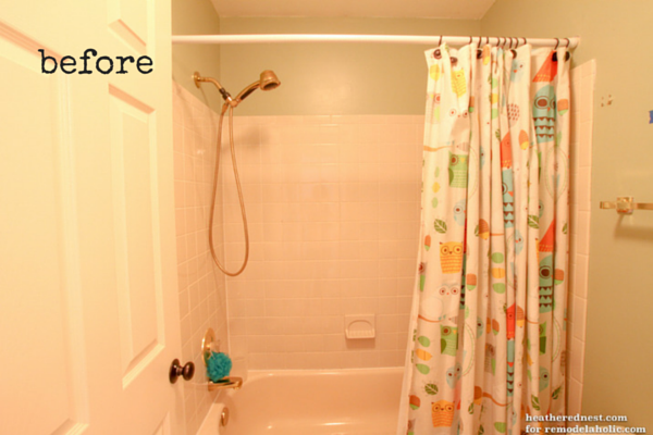 Remodelaholic | How to Update a Tile Shower & Tub in a Weekend