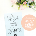 Printable Love Makes A House A Home Framed Wall Art Decor #remodelaholic
