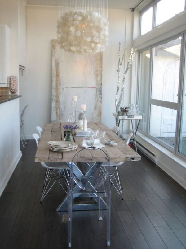 rustic glam dinette