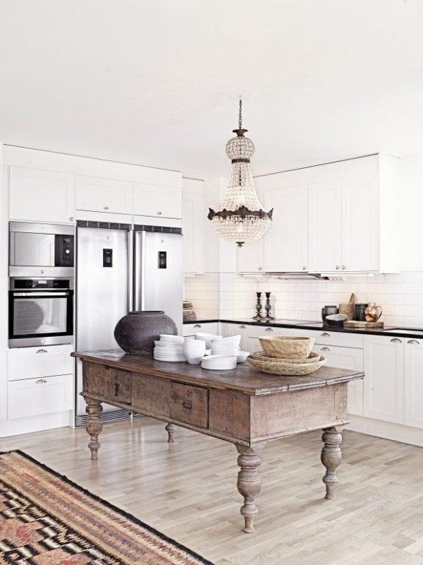 rustic glam kitchen island