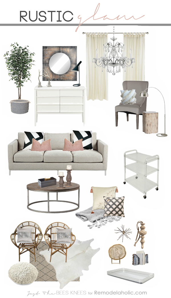 Remodelaholic decorating with style rustic glam - Rustic contemporary living room and contemporary ...