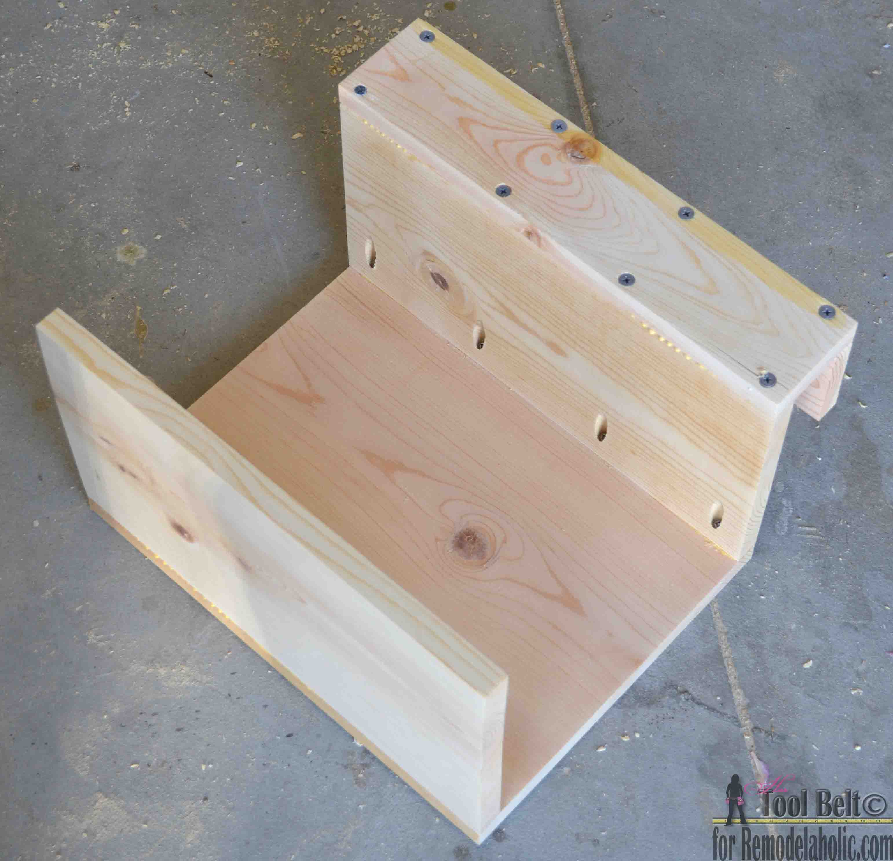 Couch Tray Table Remodelaholic Diy Sofa Arm Table