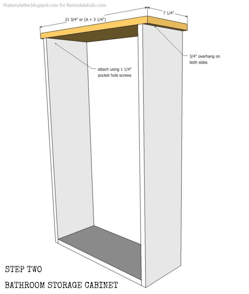 Bathroom Storage Cabinet using an old Window | Remodelaholic ...