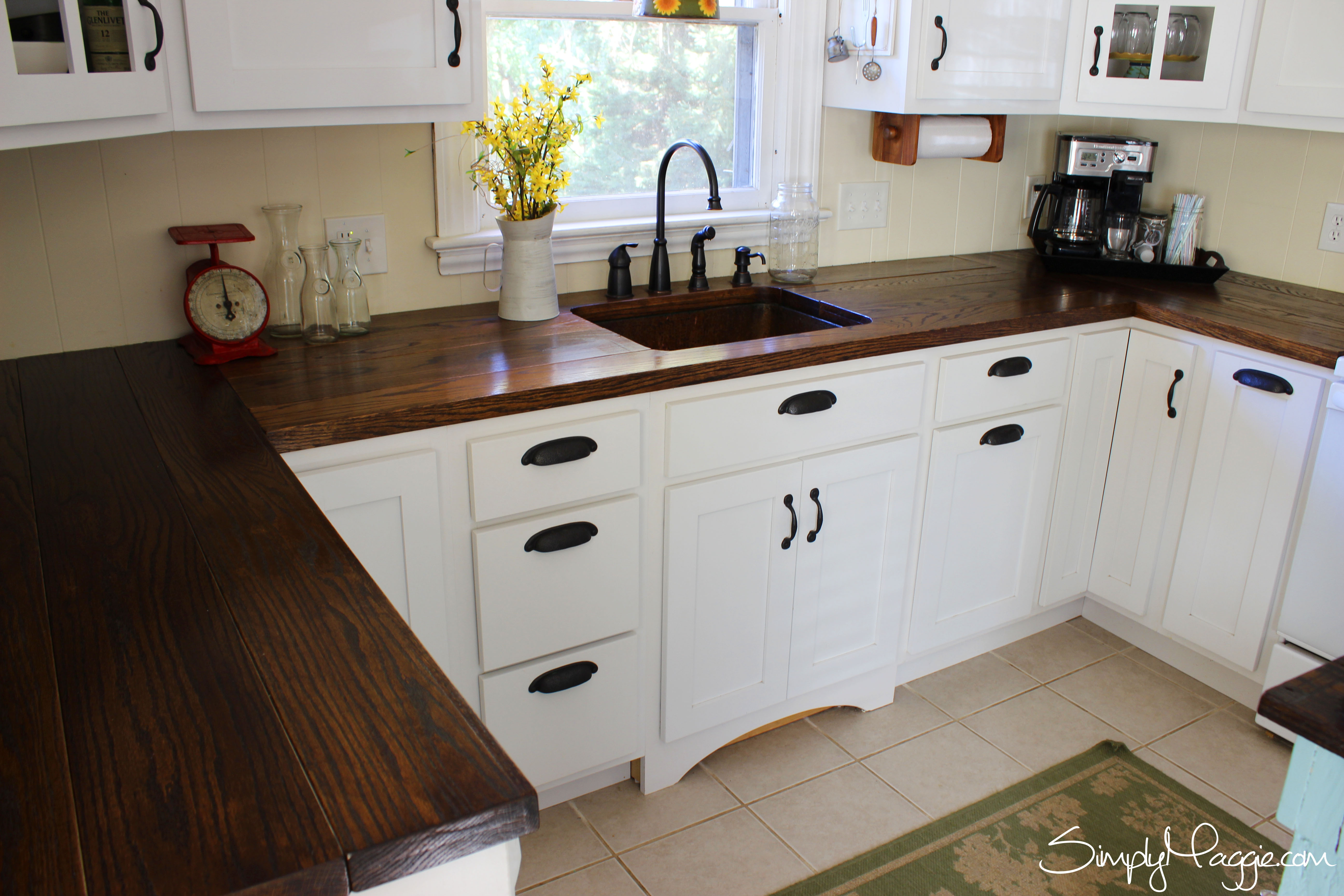 If You Want The Dark Wooden Countertop