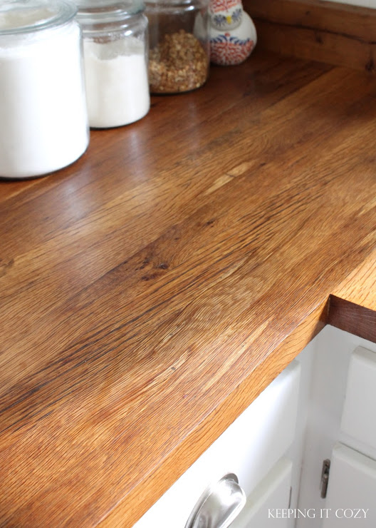 Diy Wood Plank Kitchen Countertops