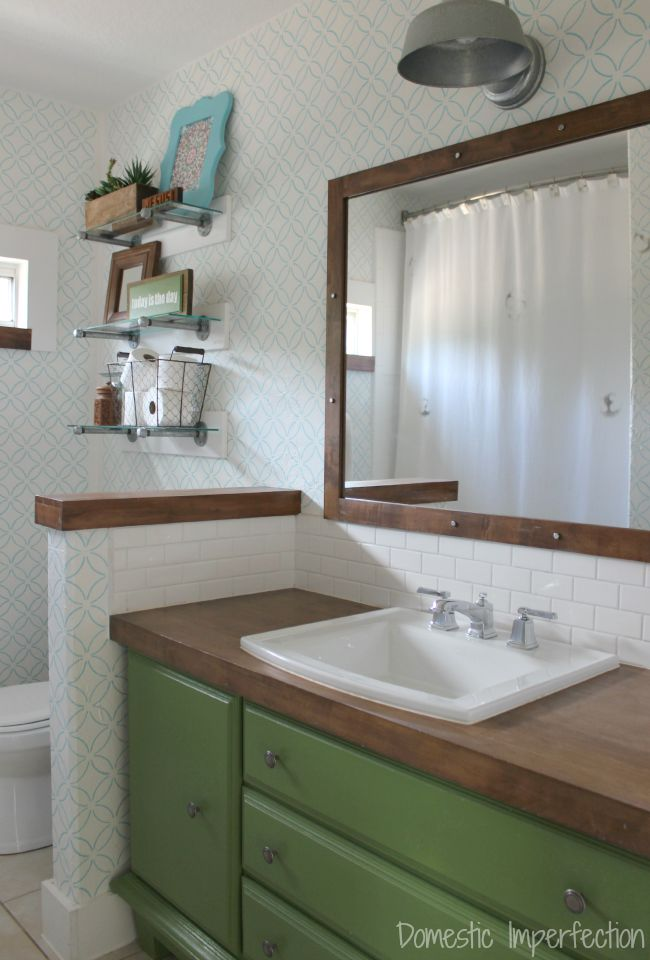 Diy Butcher Block Countertops Bathroom