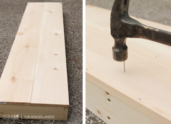 Building bench top - HMC for Remodelaholic