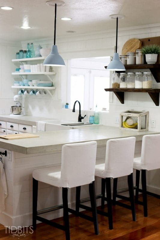 Cami Tidbits review of diy concrete countertops built from scratch