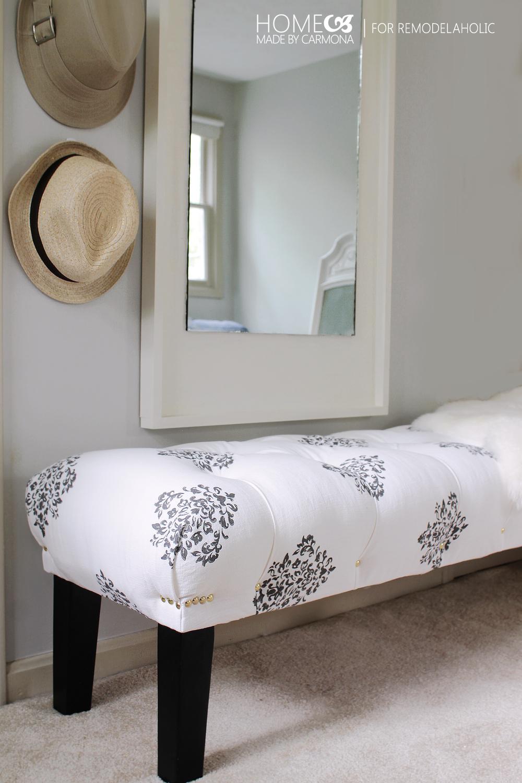Diy Bedroom Bench stunning diy tufted bench