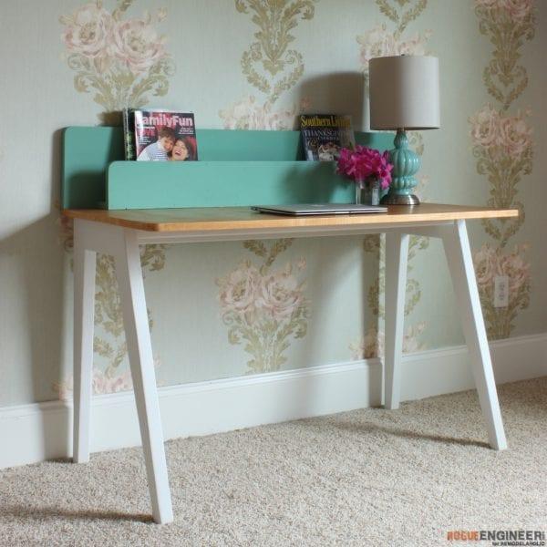 Desk Designs Diy: IKEA Hack: Easy DIY Live Edge Desk With